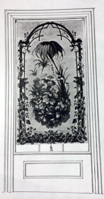 Figure 6: RUSTICATED FREAME AND FLORAL BOUQUET…WITH PALM TREE  American, Circa 1870