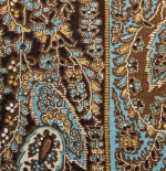 Blue-Brown Paisley