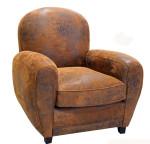Sun Damaged Leather Chair