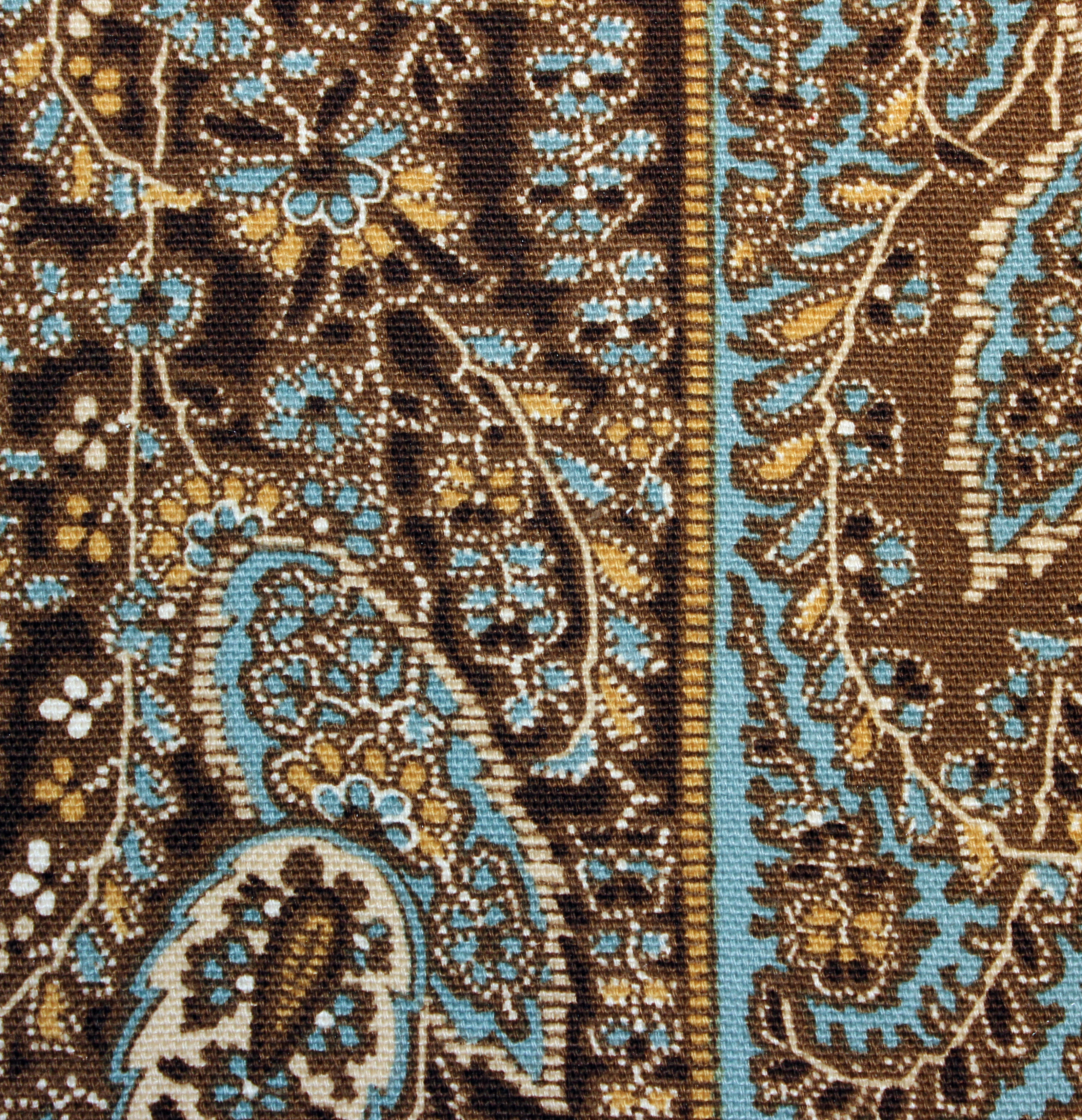 Blue Brown Paisley Roller Blinds